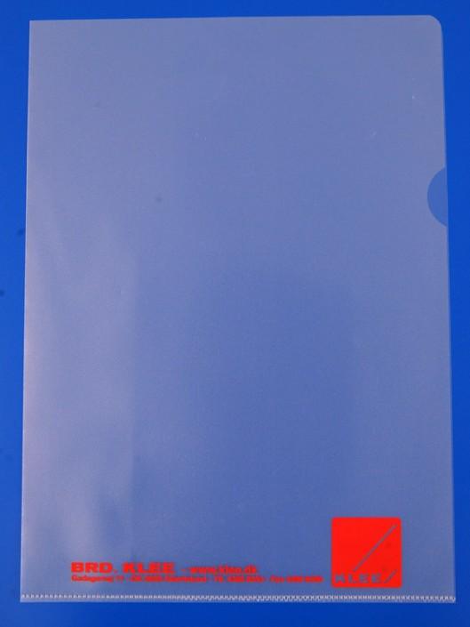 A4 charteque PP med serigrafitryk i rød