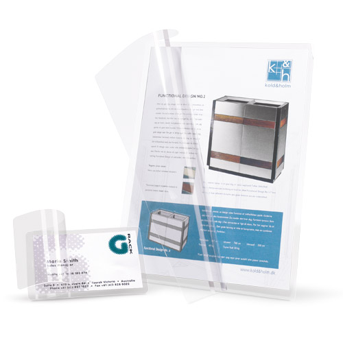 Self-laminating cards