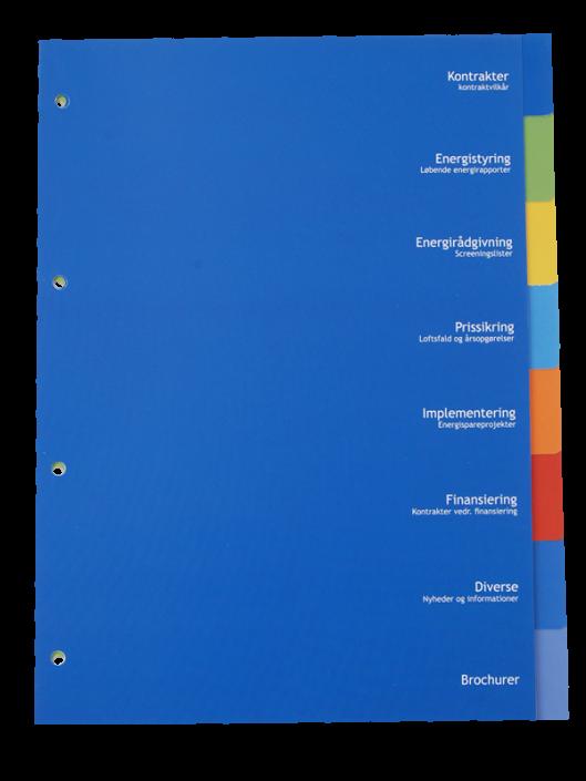 Skilleblade ifarvet plast med serigrafitryk