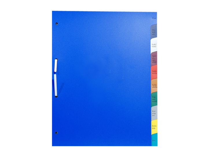 Skilleblade i hård PVC folie serigrafi eller foliepræg