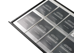 Business card pockets for display systems